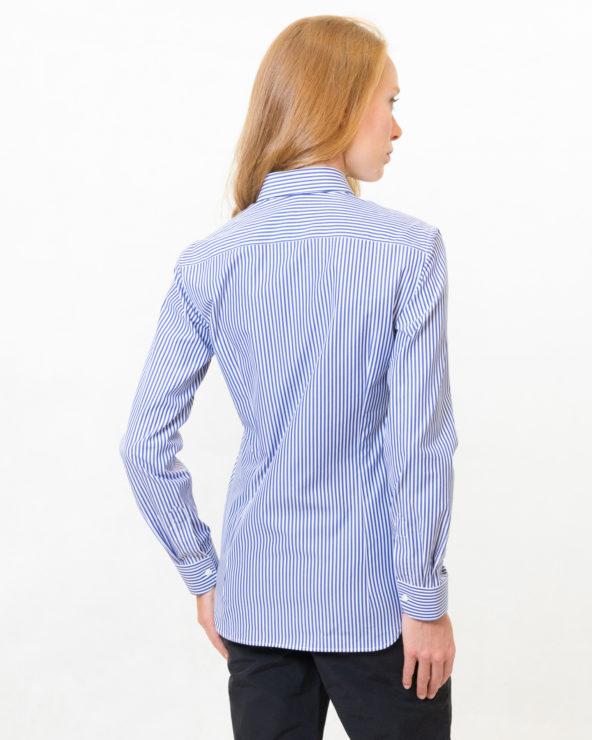 camicia donna a righe blu slim fit