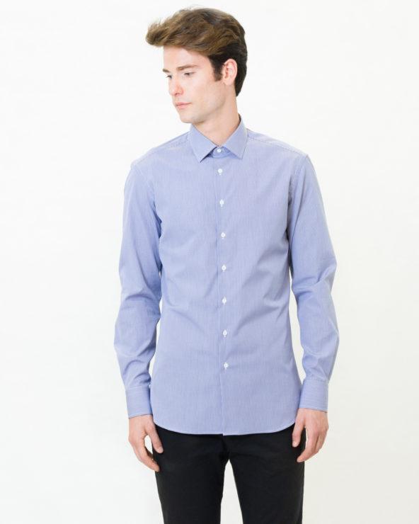 camicia a quadretti blu navy