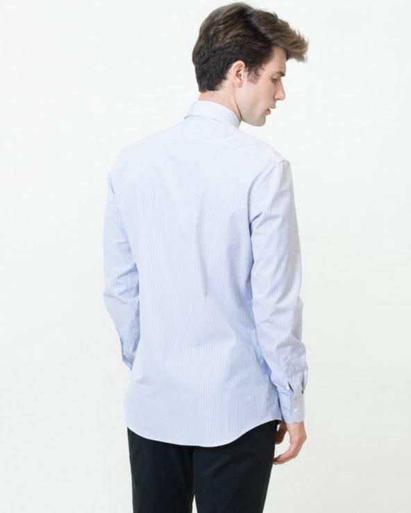 camicia a righe blu scure