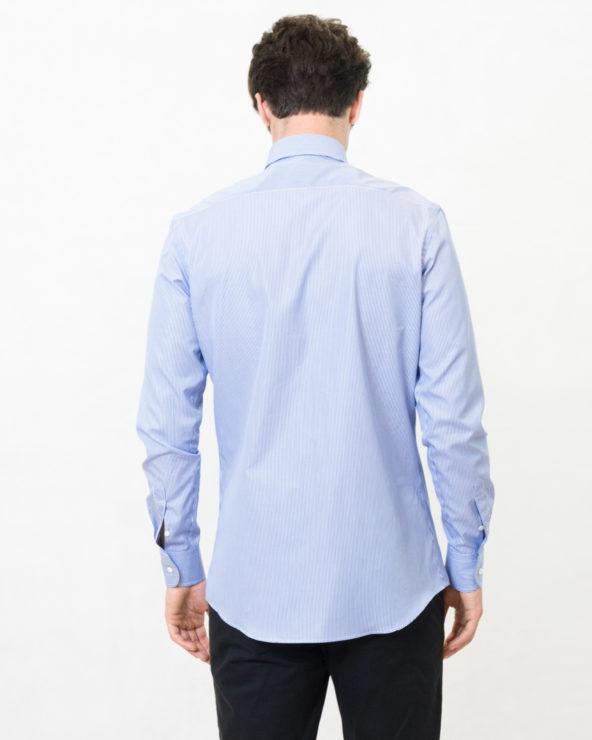 camicia a righe blu