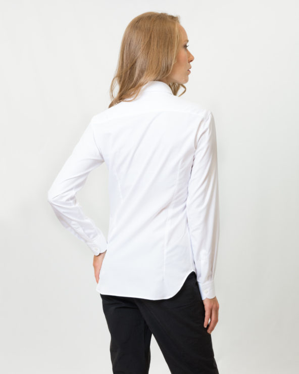 camicia bianca slim fit puro cotone